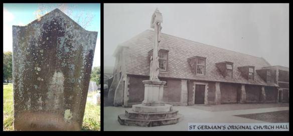 Sister Teresa, Elsie Mabel Denman headstone and St German's Hall