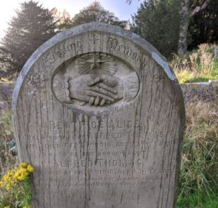 Alfred Thomas headstone at St Mellons