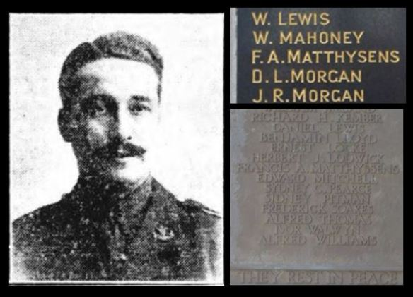 Francis Alexander Matthyssens picture and name on memorials