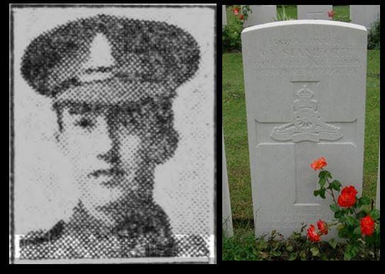 Alan Vernon Staniforth picture and headstone