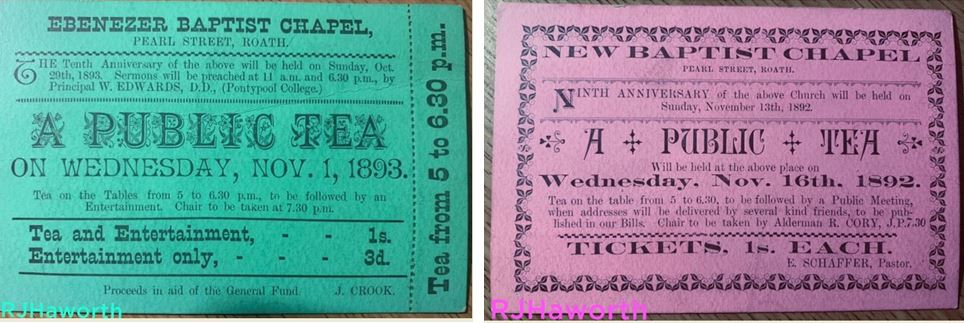 Ebenezer Baptist Church tea tickets