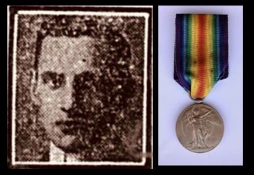 John Mathews picture and medal
