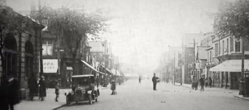 Looking onto Albany rd and hangman's corner around the First World War