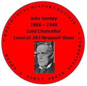 John Sankey, Lord Chancellor, grew up in Cardiff