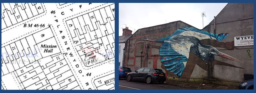 Plasnewydd Street wesleyan Methodist Mission Hall map and picture