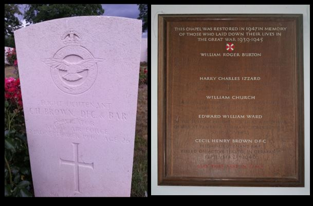 Cecil Henry Brown Headstone and Memorial Plaque