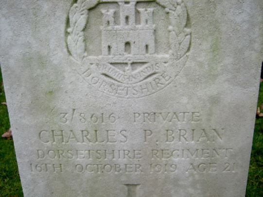 Charles P Brian headstone Cathays Cemetery