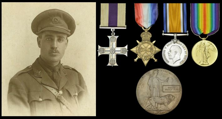 Thomas Stanley Silby portrait and medals