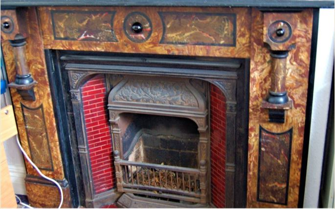 Fireplace at Roath Police Station, Clifton Street, Cardiff