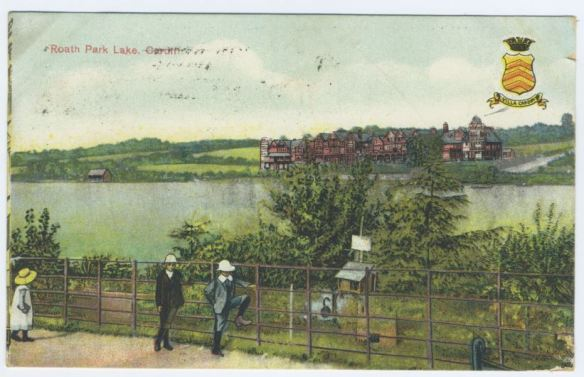Roath Park Lake - an early painting