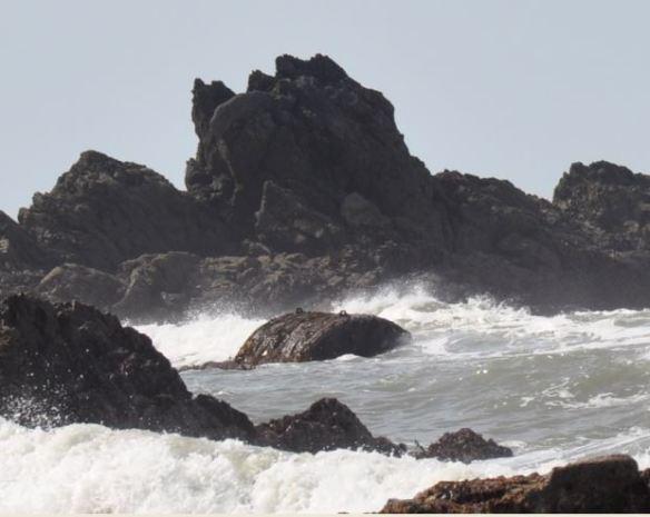 Miura trawler boiler seen at low tide in 2021