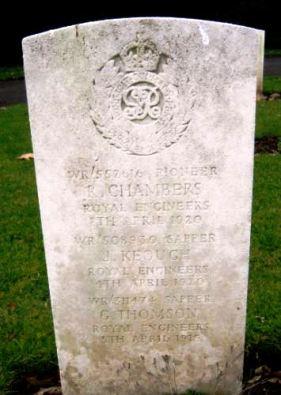Richard Chambers headstone Cathays Cemetery