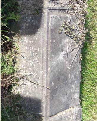 Thomas Davies his headstone