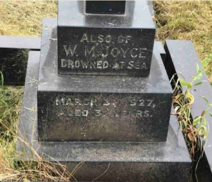 William Joyce on headstone in Milford Haven Cemetery (pic Stewtamrowley)