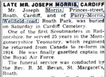 Parry Morris Western Mail 22 Jan 1940