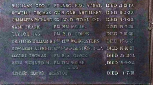 Red Cross memorial at St Edward Pen-y-lan Cardiff