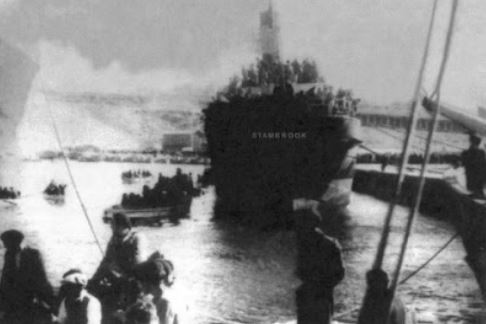 SS Stanbrook loaded with refugees