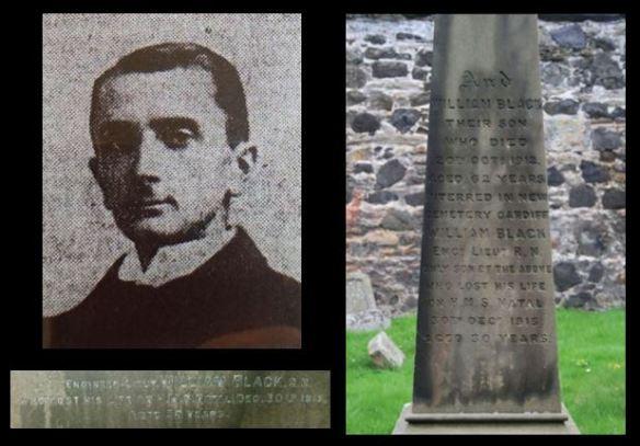 William Black portrait and graves