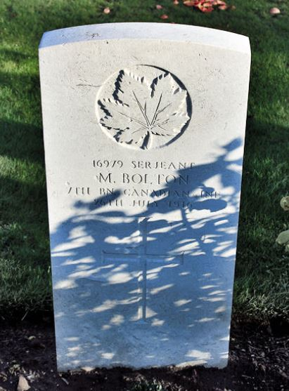 Maitland Bolton Headstone Belgium