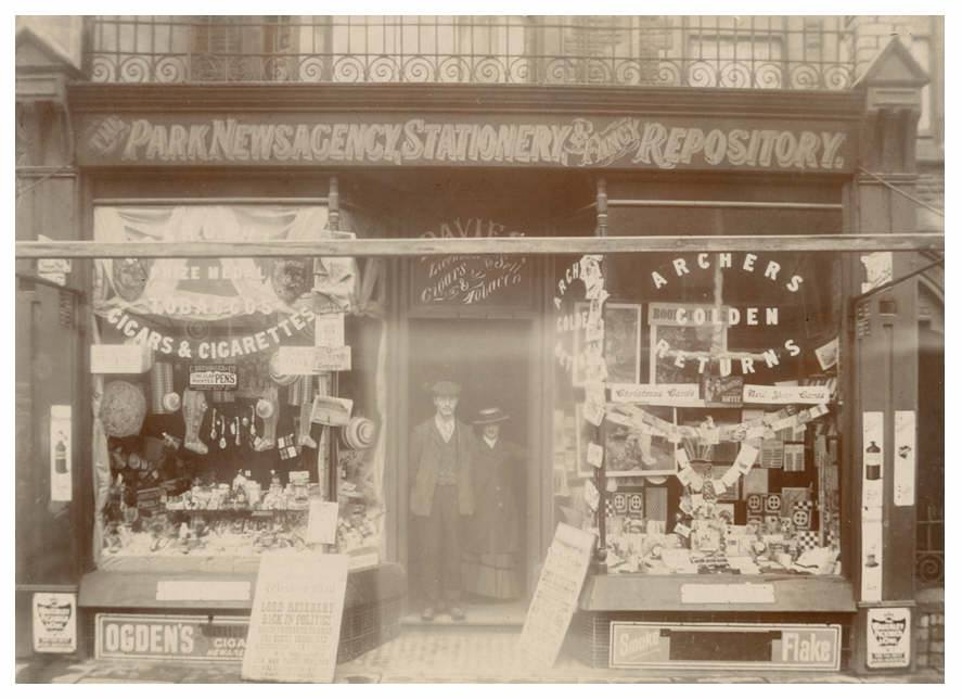 Park Newsagency said to be at 109 Albany Road in 1901